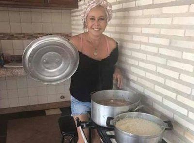 Blanca López hizo de cocinera en el Norte