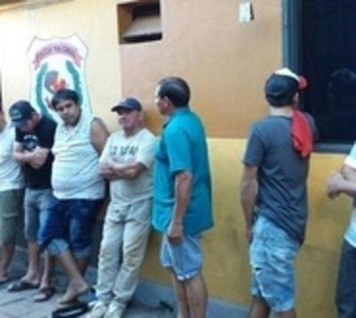 Detienen a nueve presuntos delincuentes en Luque
