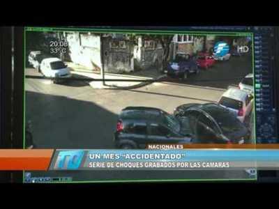 Serie de accidentes grabados por cámaras del 911