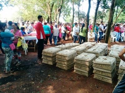 MAG entregó aves de corral y balanceados a 500 familias de Canindeyú