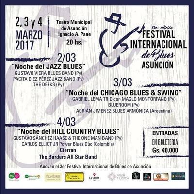 Tres noches a pura música en el Festival Internacional de Blues de Asunción