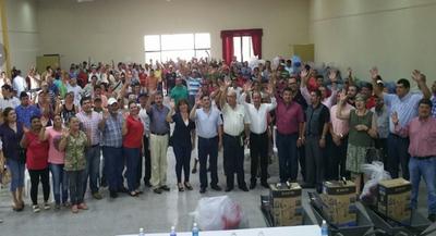 Productores de Carapeguá reciben aporte millonario