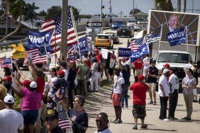 Cientos de simpatizantes de Trump le expresan su apoyo en marchas por EE.UU.