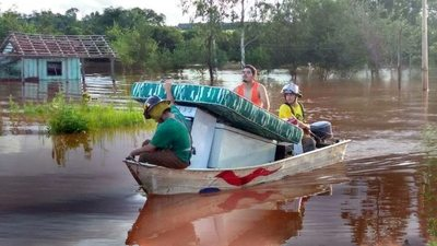 Sarambi sorokue por culpa de la lluvia