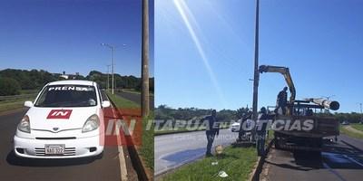 TRAS ACCIDENTES REPONEN COLUMNAS DE LA ANDE