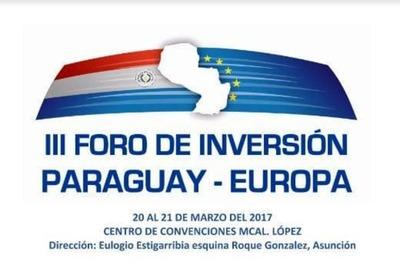 Nuevo Foro de Inversión Paraguay – Europa, se llevará cabo desde mañana
