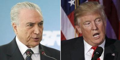 Trump conversó con Michel Temer sobre temas de la región
