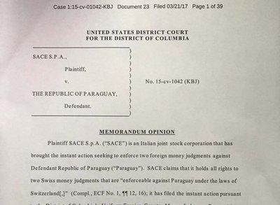 En EE.UU. rechazan la demanda contra Paraguay en caso Gramont
