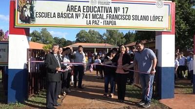 INAUGURAN VARIAS MEJORAS EN INSTITUCIONES EDUCATIVAS DE LA PAZ