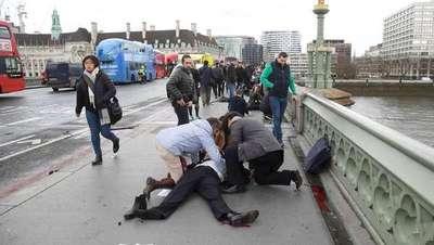 Terror en Londres: diez heridos en un atentado sobre el puente de Westminster