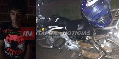 EX REO QUISO ROBAR UNA MOTO Y LO ATRAPARON