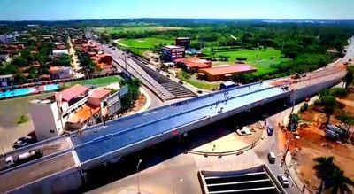 Colocarán última capa asfáltica en viaducto de Madame Lynch y Aviadores del Chaco