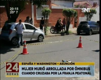 Una mujer murió arrollada en Avenida España