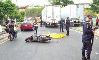 Accidentes de tránsito dejaron 1.407 muertos en Honduras