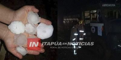 TEMPORAL Y GRANIZO AFECTA EL NORDESTE DE ITAPÚA