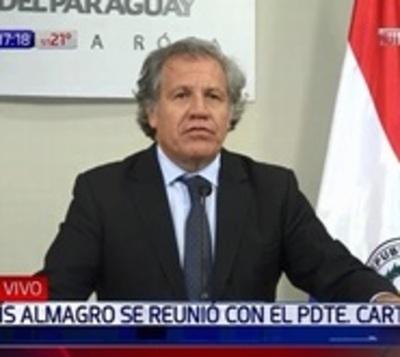 No hay fundamentos para aplicar la Carta Democrática, afirma Almagro