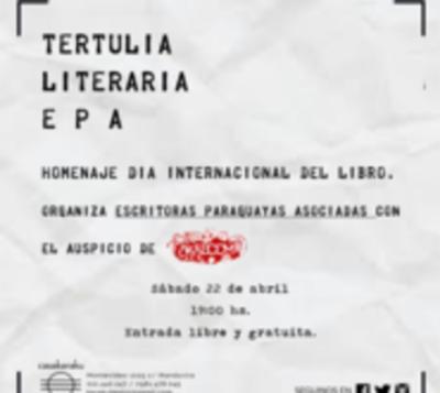 Escritoras organizan tertulia literaria por día del Libro