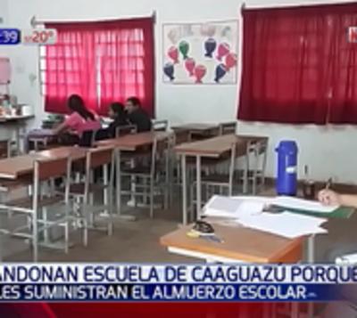 Caaguazú: Alumnos no van a escuelas por falta de almuerzo y merienda