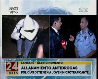 Allanamiento antidrogas en Lambaré dejó un microtraficante detenido