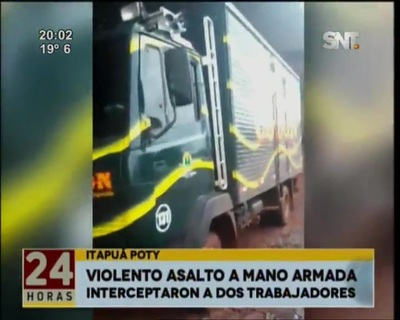 Delincuentes fuertemente armados asaltaron a repartidores de una empresa en Itapuá Poty
