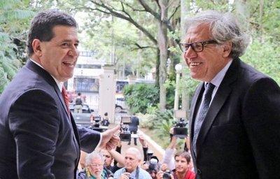 Almagro descarta aplicar carta democrática a Paraguay