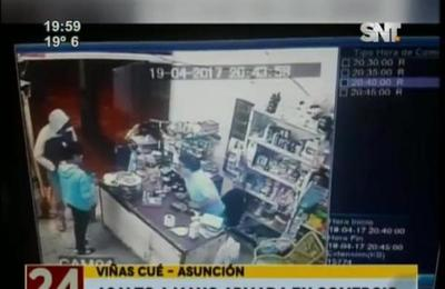 Motobandis asaltaron local comercial de Viñas Cué, Asunción