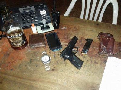 Militar armado y alcoholizado