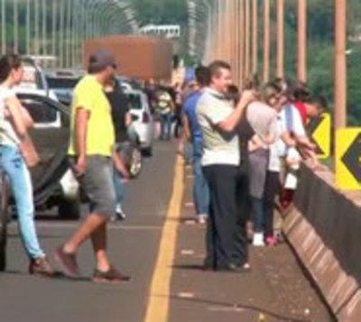 Brasileños abarrotaron comercios de Ciudad del Este y Salto del Guairá