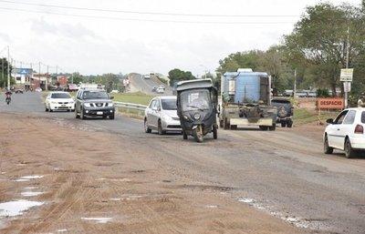 Obras habilitadas en la Ruta 3 son desprolijas y representan un peligro