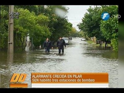 Alarmante crecida en Pilar
