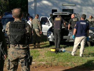 Peritos del Brasil examinan vehículos usados para asalto a Prosegur