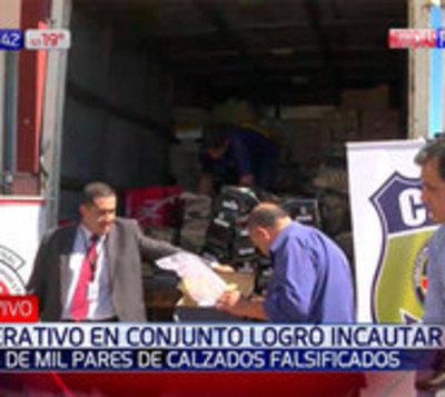 Incautan más de 1.000 pares de calzados de comercio de San Lorenzo