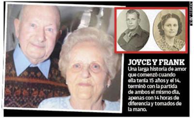 Vivieron juntos 77 años, murieron el mismo día
