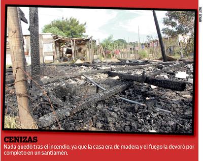 Por celos quemó la casa de su concubina