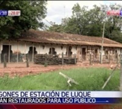 Luque: Restauración de antigua estación de tren culminaría en 40 días