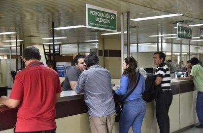 Asunción sigue sin poder emitir nuevos registros