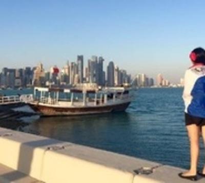 Una 'Luz' pilarense que brilla con su arpa en Dubái