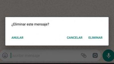 ¿Ya se pueden anular mensajes en WhatsApp?