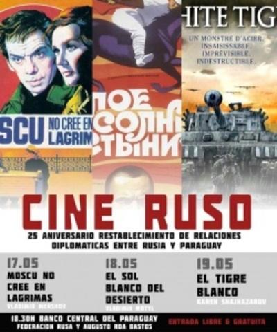 Proyectarán películas del cine ruso en el BCP