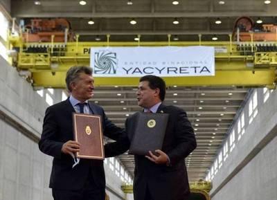 Cartes y Macri firmaron un acuerdo por la represa Yacyretá