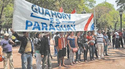 La FNC repudia el veto de expropiación de colonia Guahory