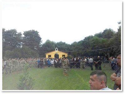 Emotiva despedida al militar que cayó de la grúa
