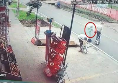 Niña atropellada en Reducto quedó internada en grave estado (video)