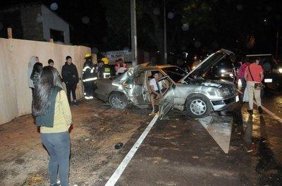 Tres lesionados en accidente de tránsito