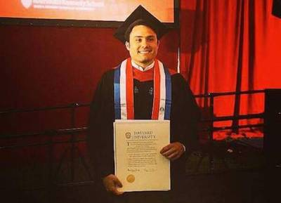 """Paraguayo graduado en Harvard vuelve para aceptar """"cualquier reto"""""""