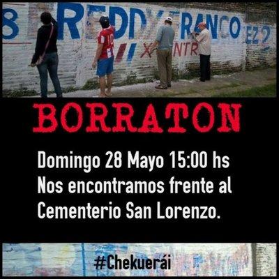 Borratón, en San Lorenzo