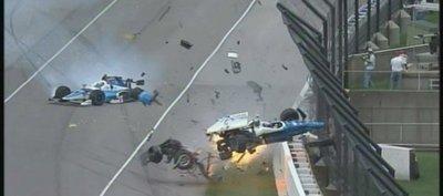 Impactante accidente en la carrera del Indy500