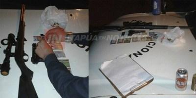 INCAUTAN ARMAS DE FUEGO EN UN CONTROL POLICIAL EN YATYTAY