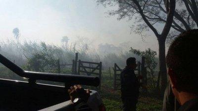Incendio de pastizal entre Caacupé y Tobatí