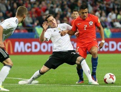 Joven Alemania empata ante la experta Chile